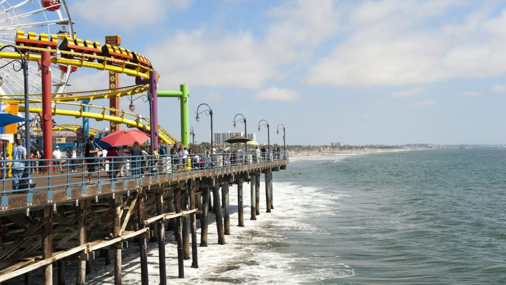 view of Los Angeles' Santa Monica Pier