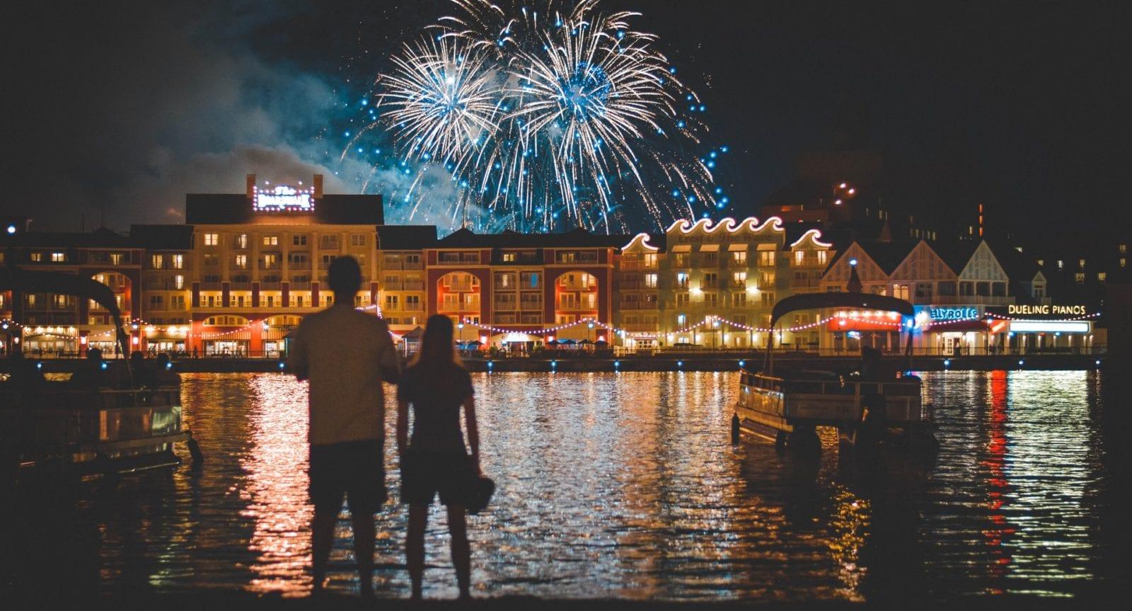 The fireworks show at Disney's Boardwalk Resort near Disney World. (Photo: Matt Popovich on Unsplash)