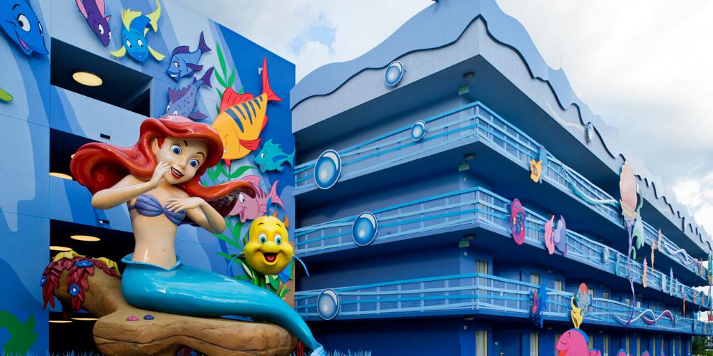 "Ariel overlooks ""The Little Mermaid"" at Disney's Art of Animation Resort. (Photo: Matt Stroshane / Disney.)"