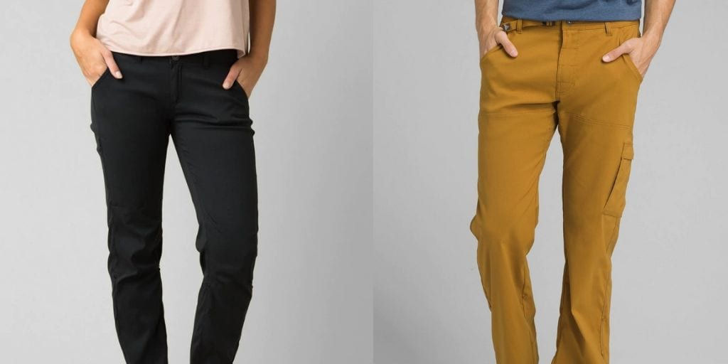 Men's and women's pants by Prana