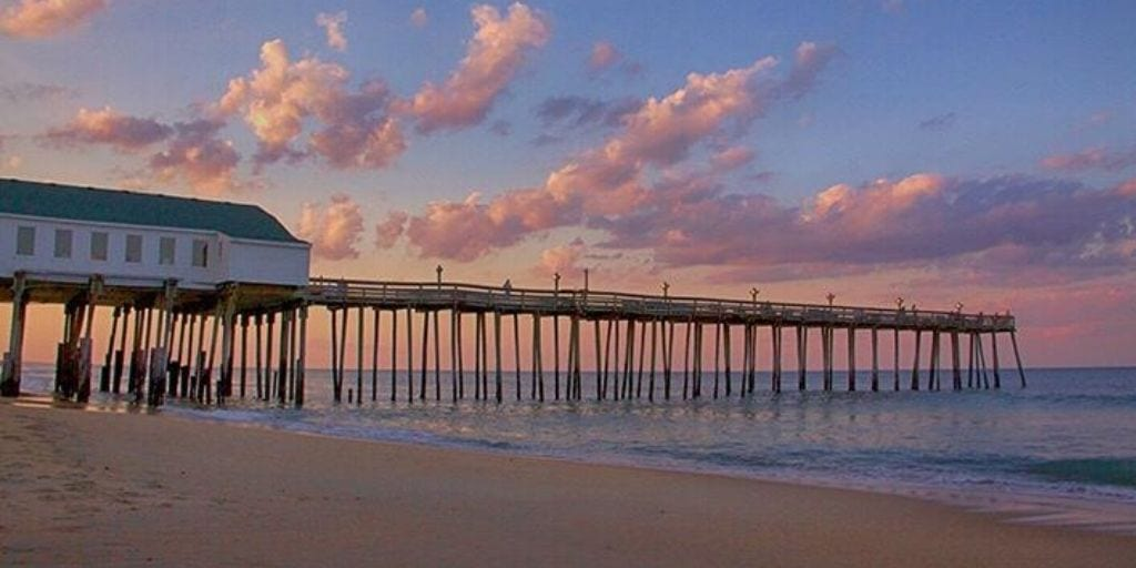 best family beaches in North Carolina: Kitty Hawk and pier