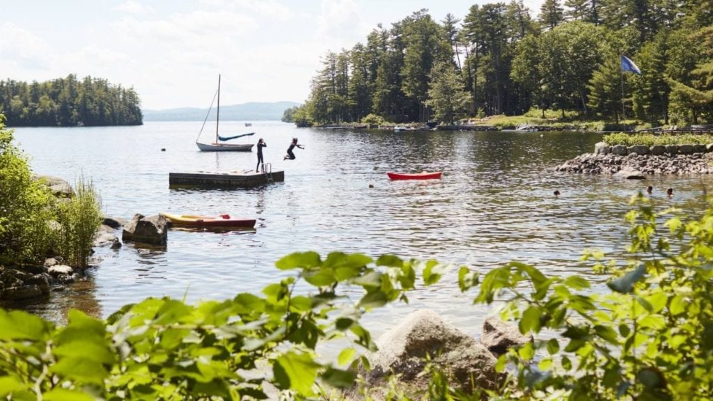 Fun activities at Migis Lodge on Sebago Lake in South Casco, Maine (Photo: Migis Lodge)