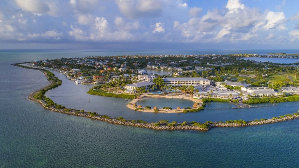 Aerial view of Hawks Cay Resort (Photo: Hawks Cay)