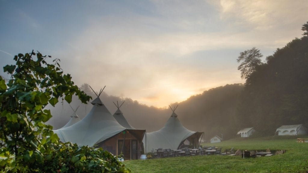 Under Canvas glamping tents at Pigeon Forge