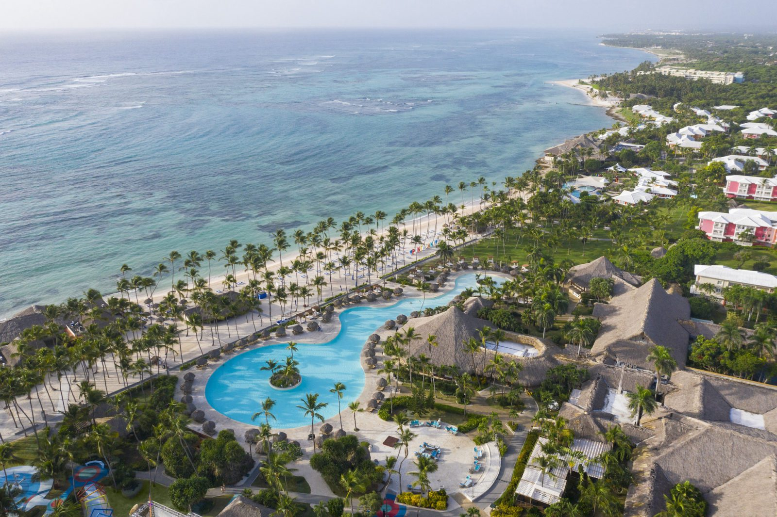 aerial view of Club Med Punta Cana all-inclusive beach resort