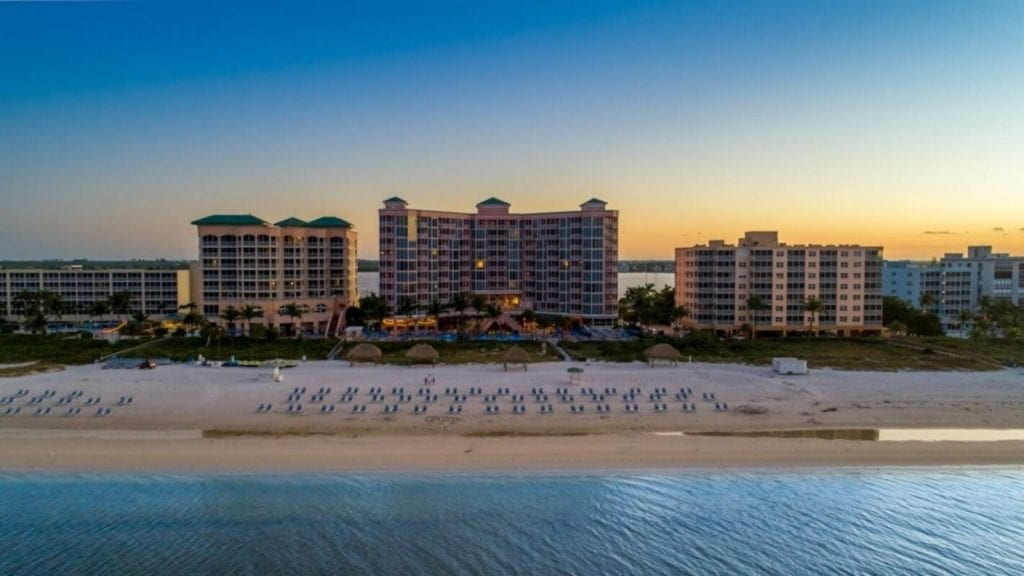Aerial view of Pink Shell Florida All Inclusive Resort (Photo: Pink Shell Resort)