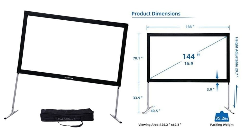 SCREENPRO Portable Outdoor Movie Screen
