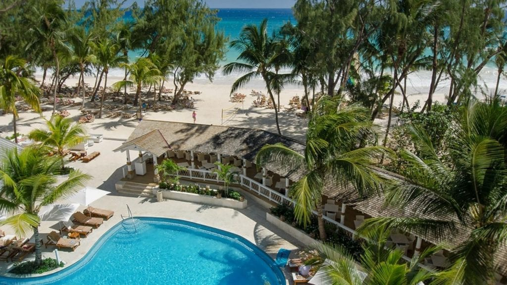 View of the pool and beach at Sandals Barbados, St. Lawrence Gap, Barbados (Photo: Sandals)