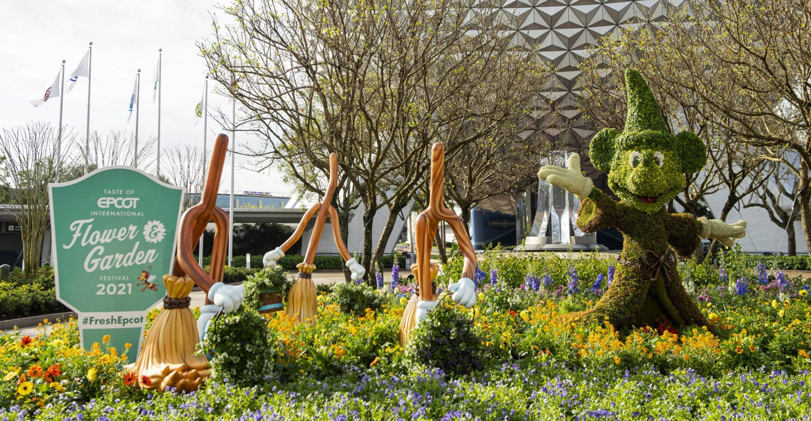 The Taste of EPCOT International Flower and Garden Festival blossoms to life March 3 to July 5, 2021 (Photo: David Roark)