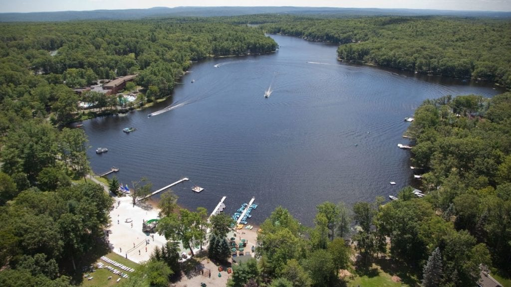 Aerial view of Woodloch Pines All Inclusive Family Resort (Photo: Woodloch Pines)