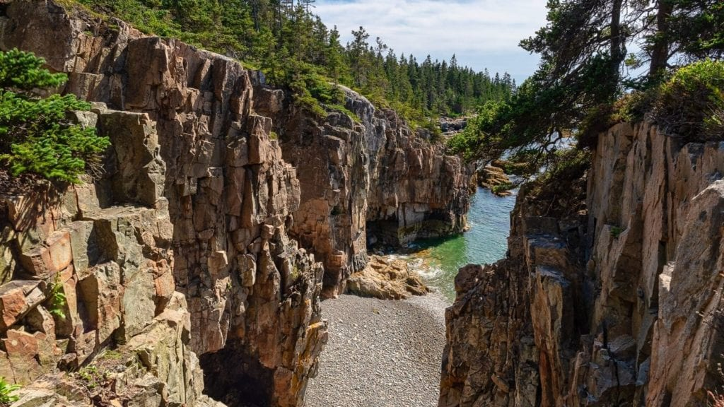 Winter harbor view Acadia National Park one of the best vacation spots for couples