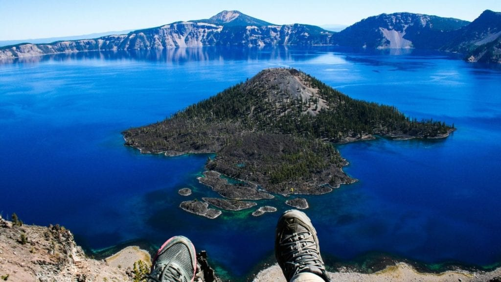 Crater Lake in Oregon is one of the best vacation spots for couples