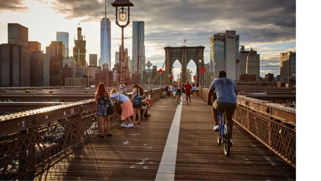 New York City in the late afternoon light. NYC is one of the best vacation spots for couples