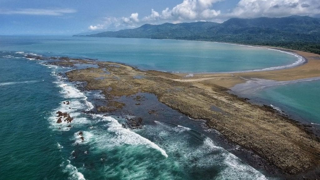 Uvita, Costa Rica Whales Tail beach, one of the best vacation spots for couples