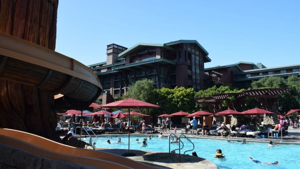Pool and waterslide at Disney's Grand Californian Hotel (Photo: Dave Parfitt)