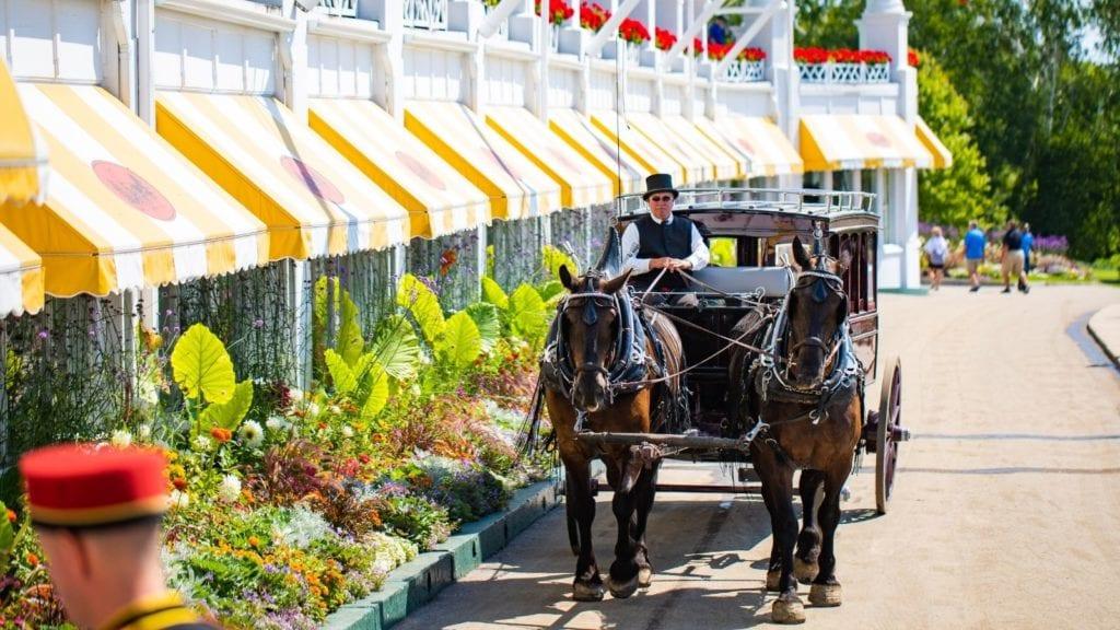 Carriage ride at Grand Hotel on Mackinac Island, Michigan (Photo: Grand Hotel)