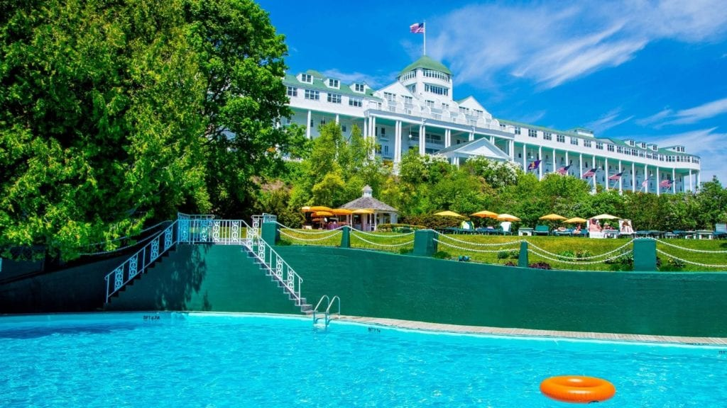 The family-friendly swimming pool at Grand Hotel on Mackinac Island (Photo: Grand Hotel)