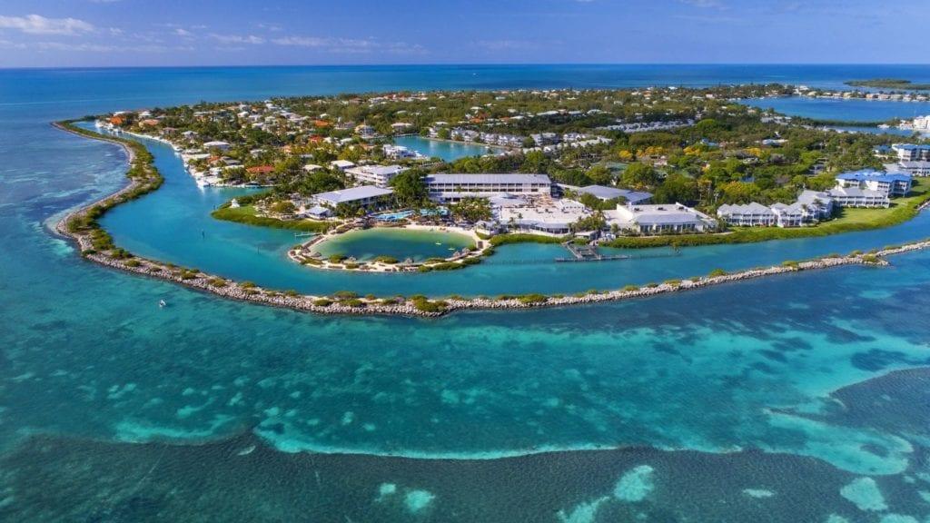 Aerial view of Hawks Cay Resort in the Florida Keys (Photo: Hawks Cay Resort)