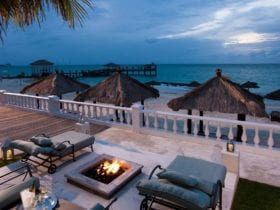 Sandals Royal Bahamian bonfire and ocean view; all inclusive Bahamas