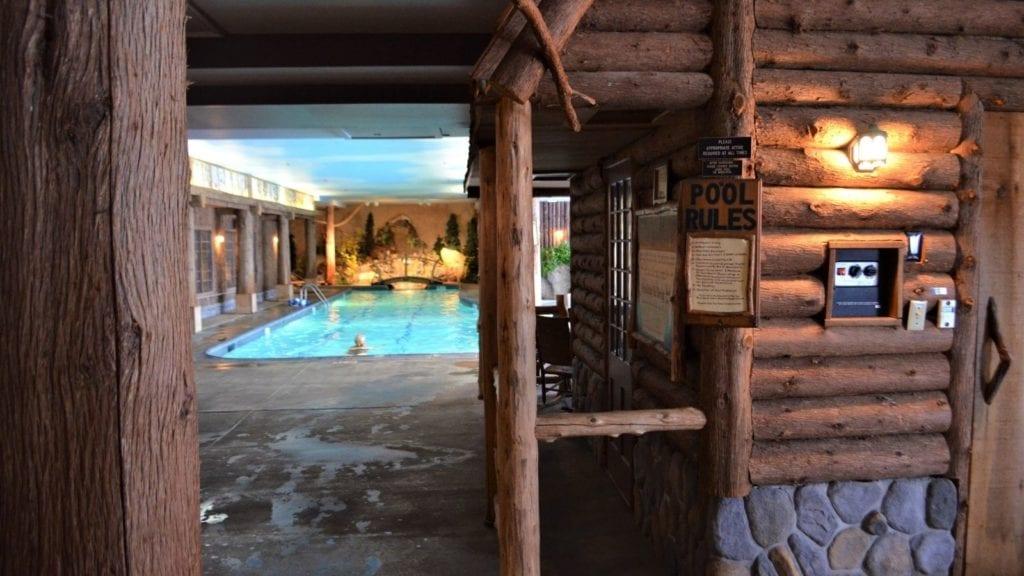 Adirondack-themed indoor pool at the Mirror Lake Inn (Photo: Dave Parfitt)