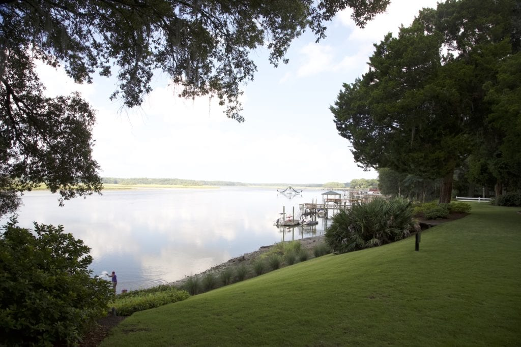View of water in Bluffton in South Carolina's Lowcountry