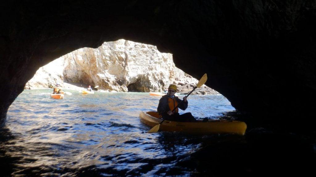 Kayaking the Dinosaur Caves near Pismo Beach, California