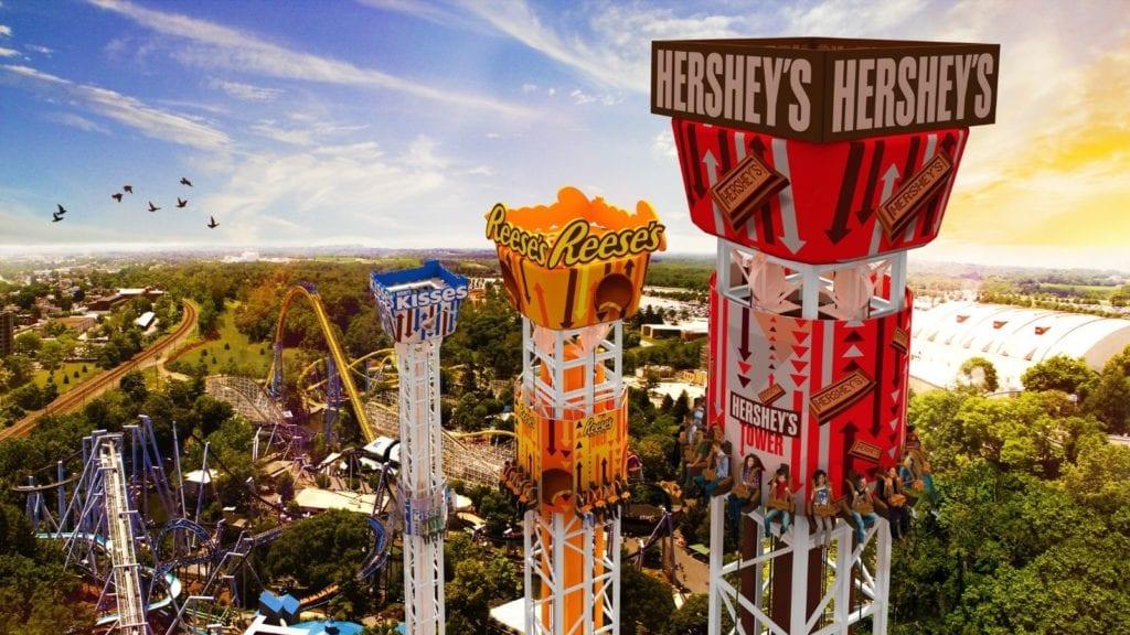 Triple Tower at Hersheypark in Hershey, Pennsylvania (Photo: Hersheypark)