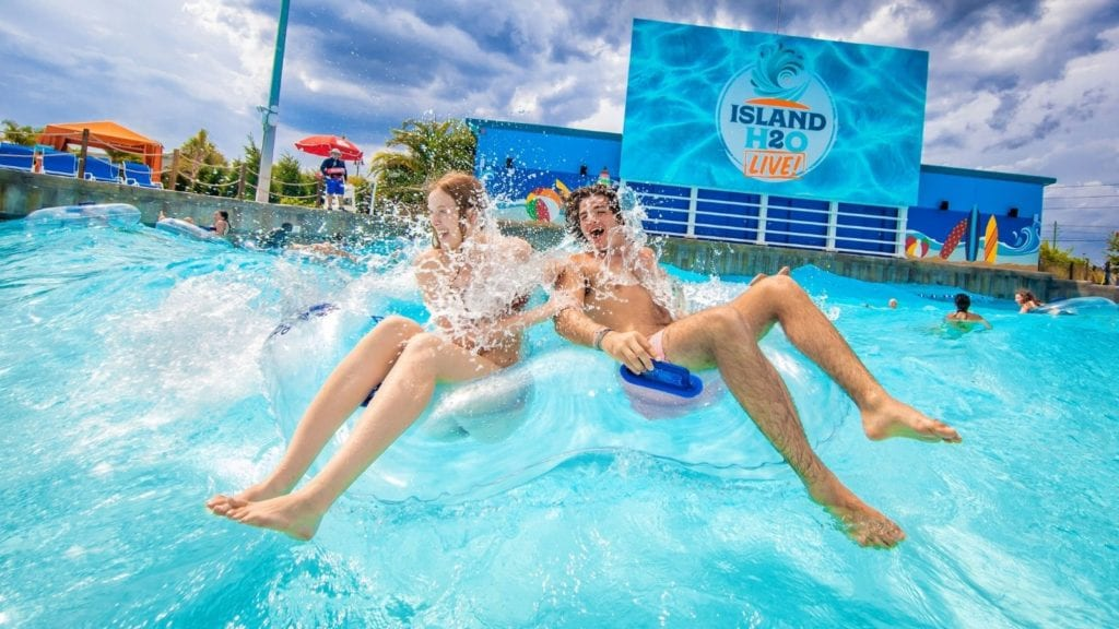 Teens in the water at Island H2O Live! water park (Photo: Island H2O Live!)
