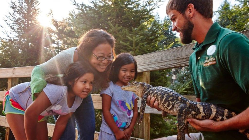 Animal encounter at ZooAmerica (Photo: Hershey, PA)