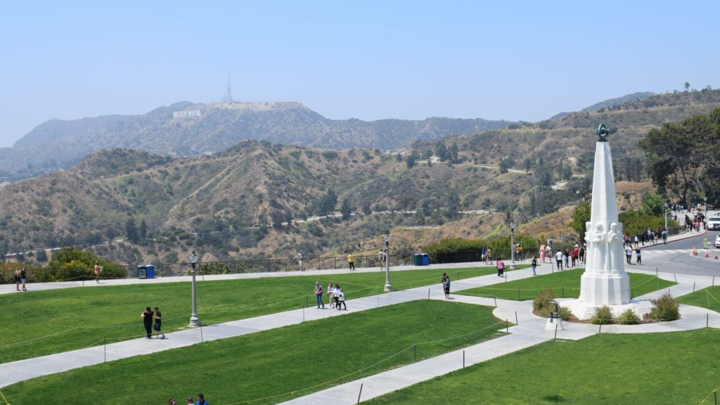 view of Hollywood sign in Los Angeles, a top U.S. tourist attraction