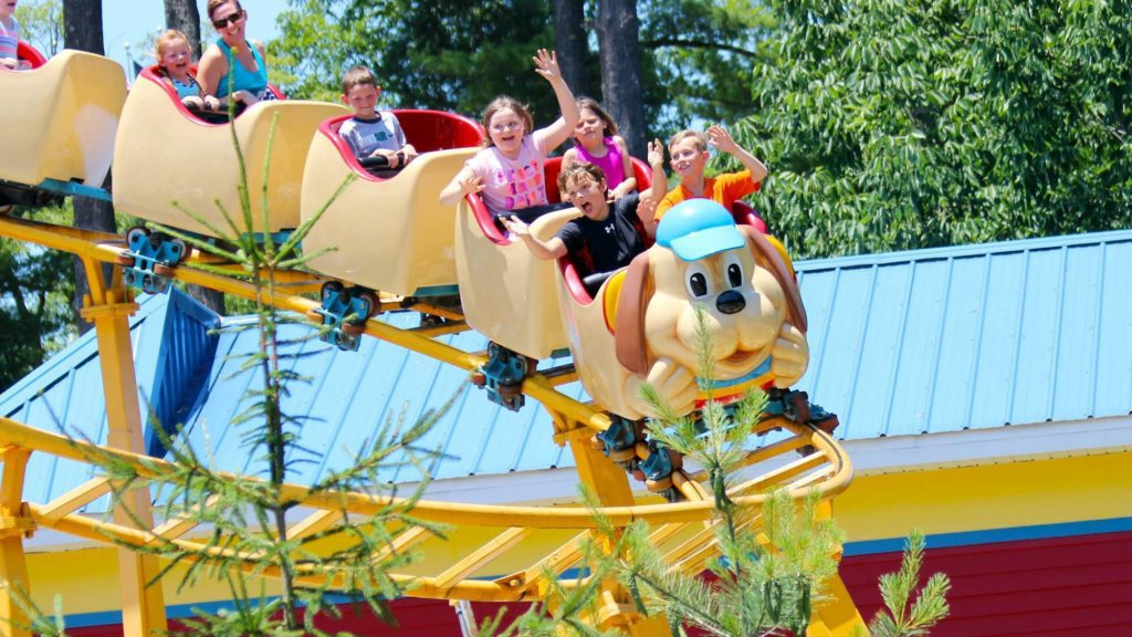 Small rollercoaster at Holiday World. Holiday World is an amusement park for kids that toddlers will love