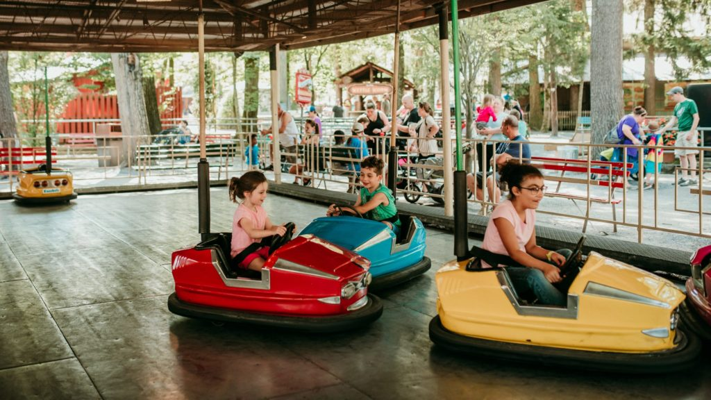 Kiddie bumper cars at Knoebels Amusement Park, an amusement park for kids that's perfect for younger children too