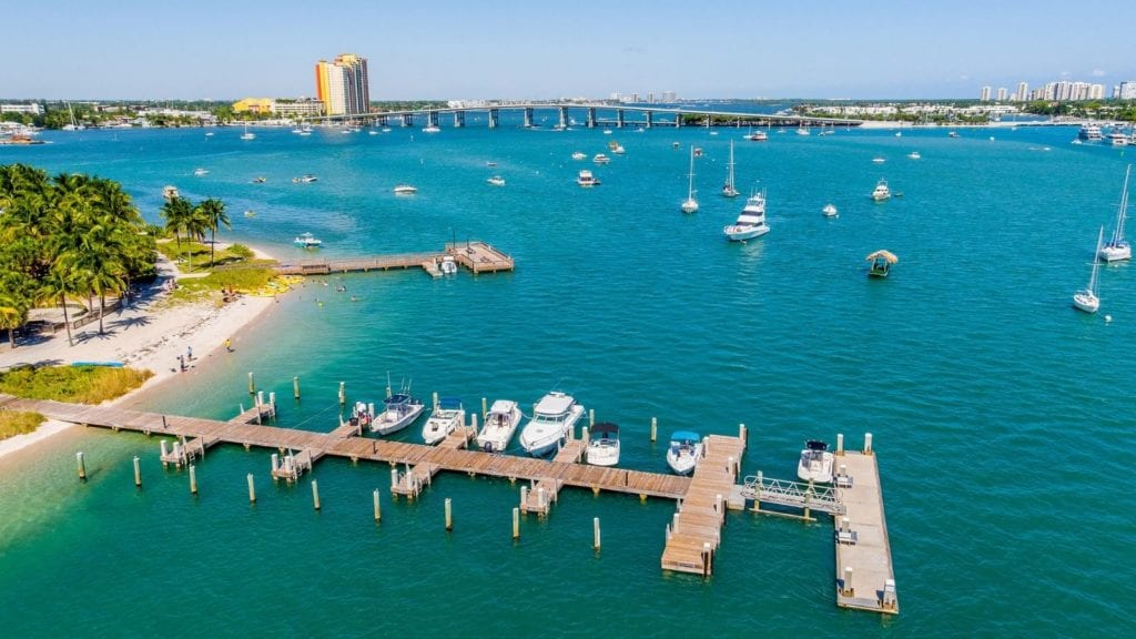 Peanut Island with Blue Heron Bridge in the distance (Photo: The Palm Beaches)