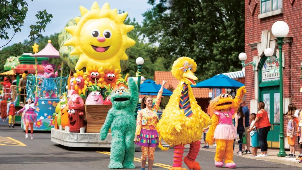 Sesame Place Parade featuring Big Bird