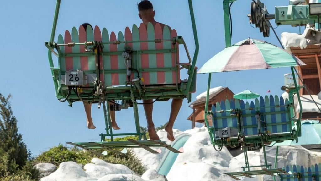 The easiest way to summit Mount Gushmore is via chair lift (Photo: ent Phillips)