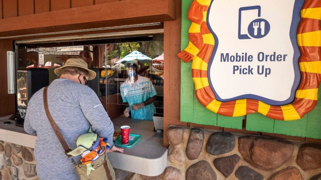 Mobile ordering is everywhere at the Disney water parks (Photo: Kent Phillips)