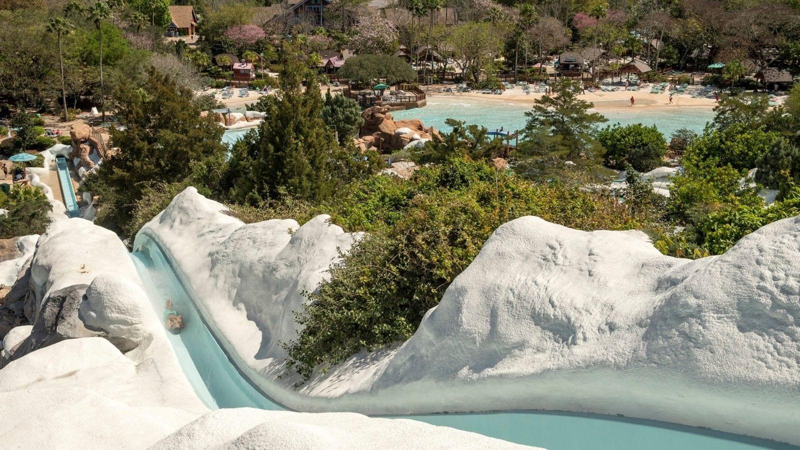 Blizzard Beach's Summit Plummet water slide (Photo: Kent Phillips)