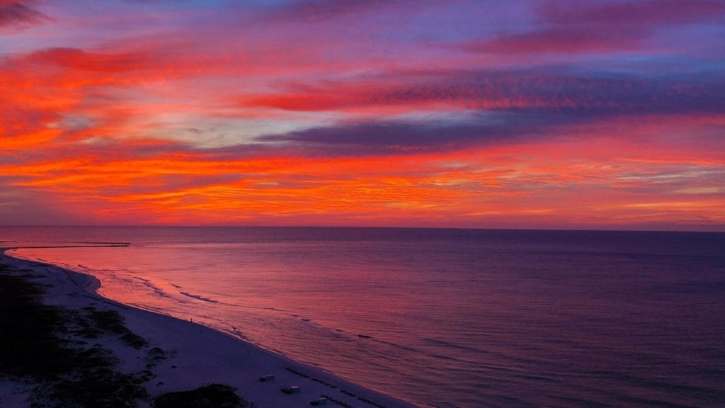 Sunset over Gulf Shores, Alabama (Photo: Dave Parfitt)