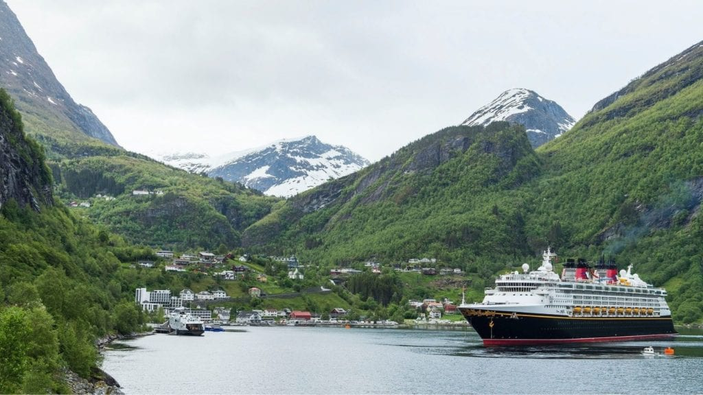 Disney Magic on a family cruise to Geiranger, Norway (Photo: Disney Cruise Line)