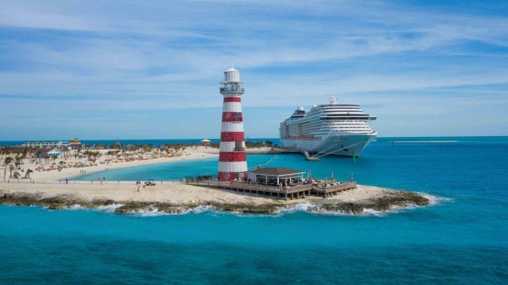 Family cruises aboard the MSC Divina visit Ocean Cay MSC Marine Reserve (Photo: MSC Cruises)