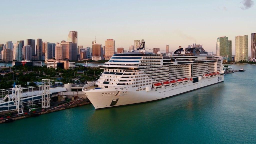 MSC Meraviglia in port at Miami, Florida (Photo: MSC Cruises)