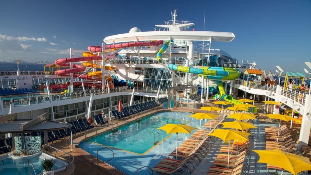 The Caribbean pool deck on Oasis of the Seas makes it one of the best cruise ships for kids (Photo: Royal Caribbean)