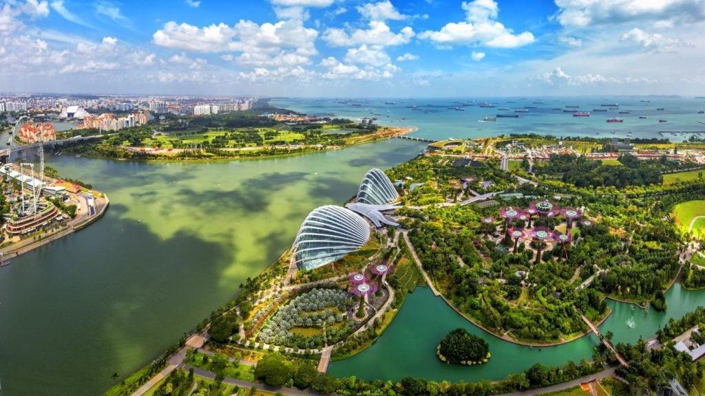 Bird's eye view of Singapore City skyline in Singapore. (Photo: Shutterstock)