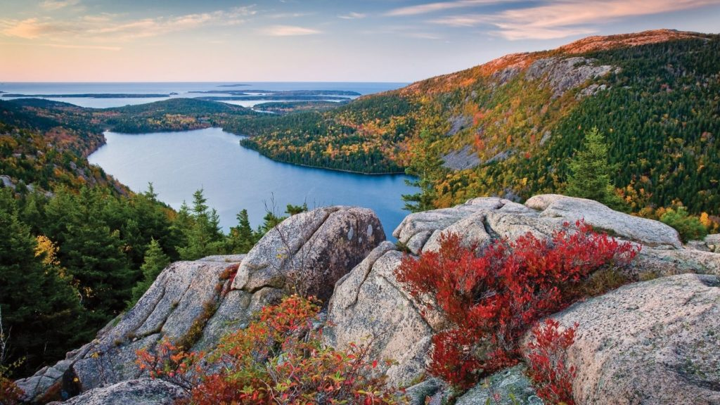 Autumn in New England's Acadia National Park (Photo: Maine Office of Tourism)