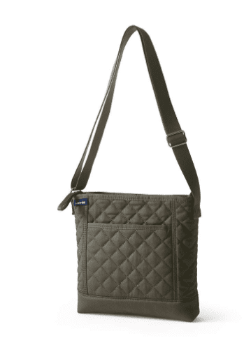 Lands' End Quilted Crossbody Bag closeup