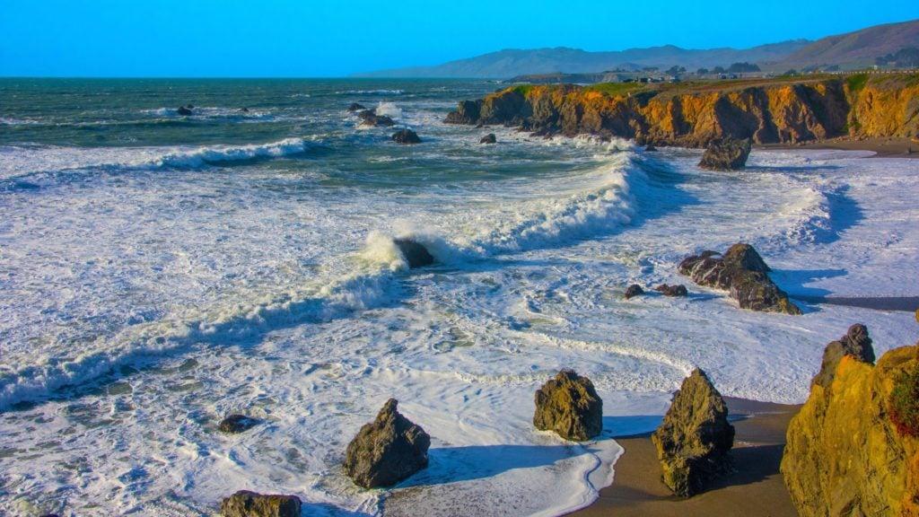 Sonoma Coast fall vacation idea; in fall, there's usually less fog along the coast