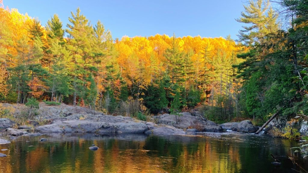 Sunset in Marquette, Michigan, a great Midwest fall getaway