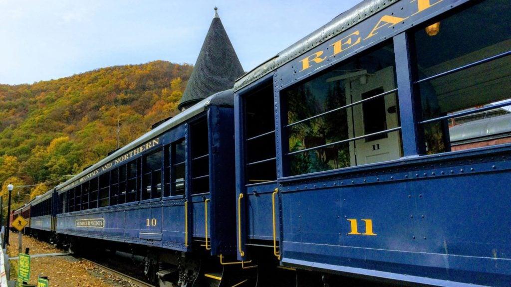 Lehigh Gorge Scenic Railway in Jim Thorpe, the Poconos- a fall vacation idea